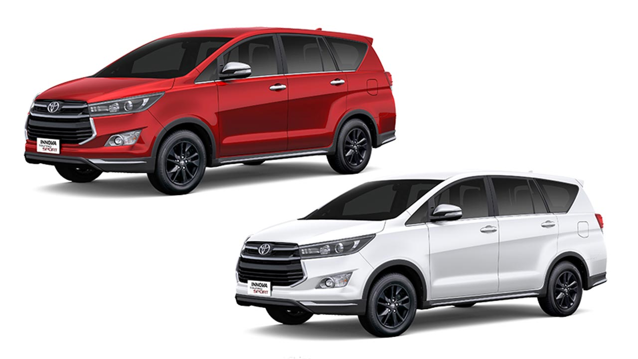 2017 Toyota Innova Touring Sport White And Red Colours